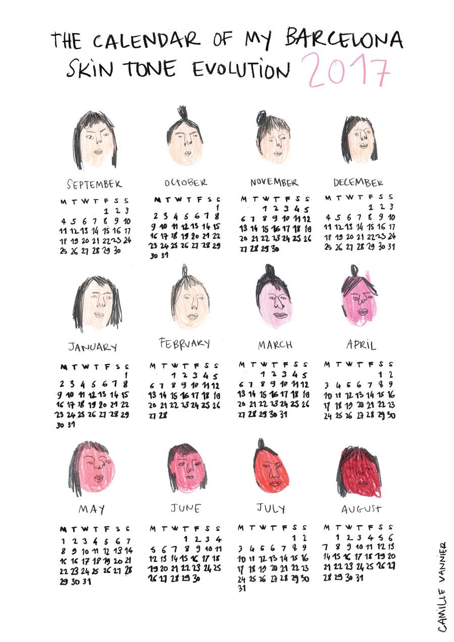 Sunburn Calendar 2017